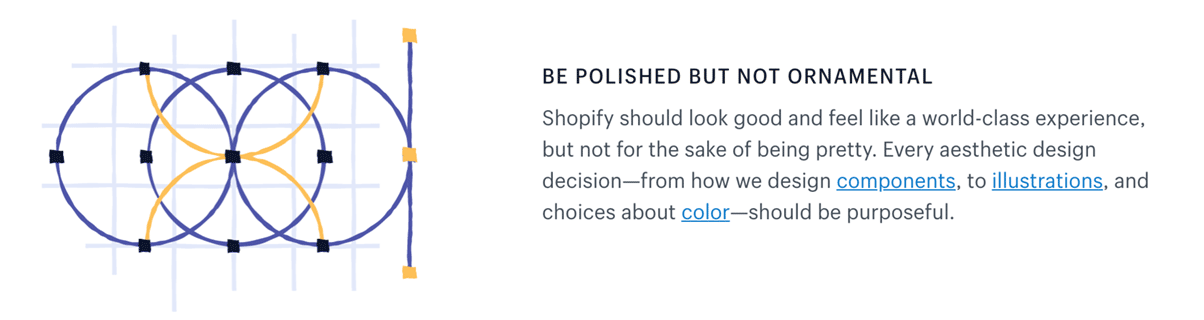 Shopify: Be polished but not ornamental