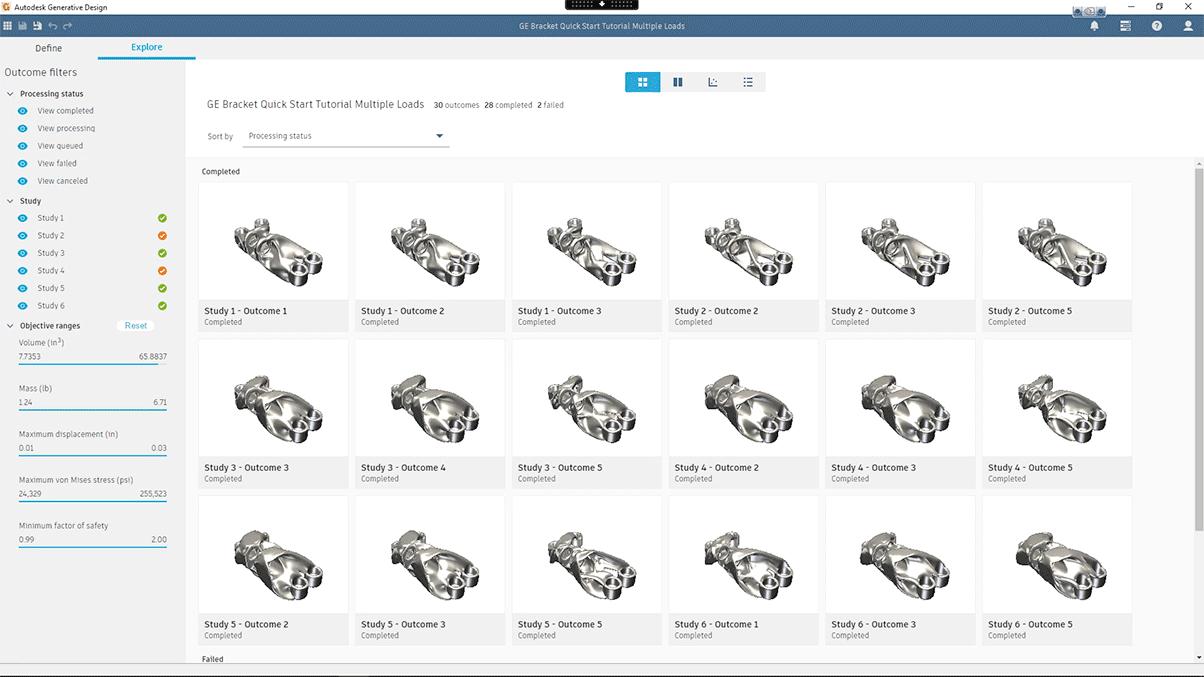 Autodesk Generative Design スクリーンショット